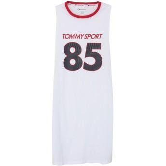 《期間限定セール開催中!》TOMMY SPORT レディース ミニワンピース&ドレス ホワイト XS ポリエステル 100% SLEEVELESS DRESS '85