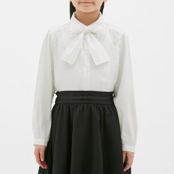 (GU)GIRLSブラウス(長袖)CL OFF WHITE 130