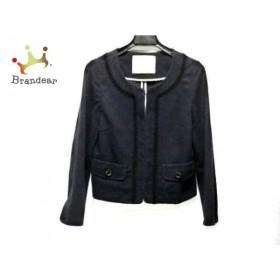 エフデ ef-de ジャケット サイズ9 M レディース ネイビー 刺繍   スペシャル特価 20190821