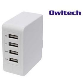 AC-USB充電器 USBポート×4 合計5.1A出力 スイングプラグ OWL-ACU4F51 ホワイト 家電 電池 充電器単体 au WALLET Market