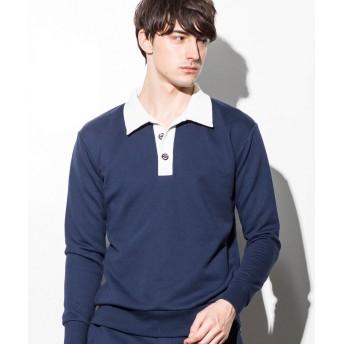 シャツ - SHIFFON 1PIU1UGUALE3 RELAX(ウノピゥウノウグァーレトレ) スキッパースウェットシャツ(グレー/ネイビー/ブラック)