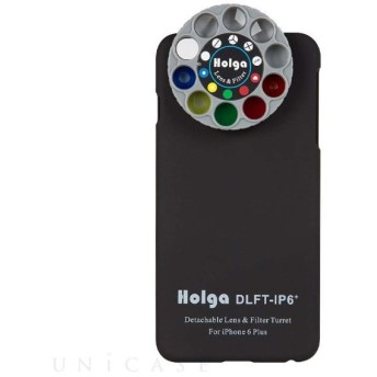 ホルガ iPhone6 Plus用ダイヤル着脱式レンズフィルター&ケース ブラック Holga DLFT-IP6+ BK