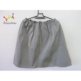 ニジュウサンク 23区 スカート サイズ38 M レディース 美品 ダークネイビー×白 ストライプ スペシャル特価 20190823