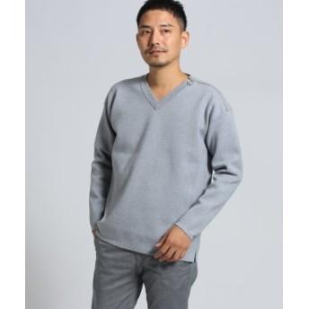 (TAKEO KIKUCHI/タケオキクチ)ミラノリブセーター [ メンズ トップス ニット セーター Vネック ]/メンズ ライトグレー(011) 送料無料