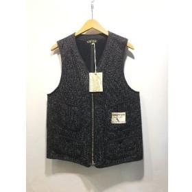 経堂) ブラウンズビーチ ジャケット Brown's Beach Jacket ジップ ベスト ウール サイズ36 定価3.2万 タグ付