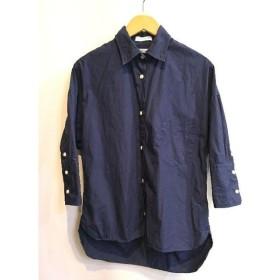二子玉) マディソンブルー MADISONBLUE j.bradley ドレスシャツ ネイビー 紺 レディース 1 定価3.4万