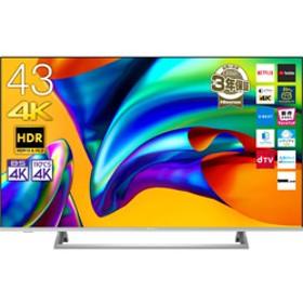 43E6500 液晶テレビ シルバー [4K対応 /BS・CS 4Kチューナー内蔵]