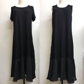 キャミワンピース - shoppinggo Tシャツワンピース ゆったり 大きいサイズ ひざ下レース 夏キャミワンピ