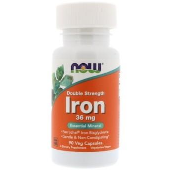 鉄分、ダブル・ストレングス、 36 mg、ベジキャップ 90 錠
