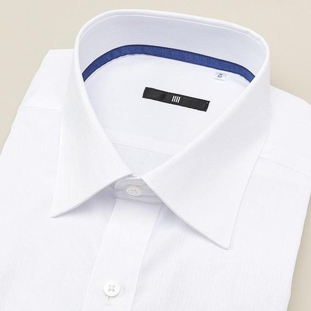 238785053638d6 [マルイ] ワイドカラー ドレスワイシャツ/ホワイト×ドビーストライプ【BL-3MODEL
