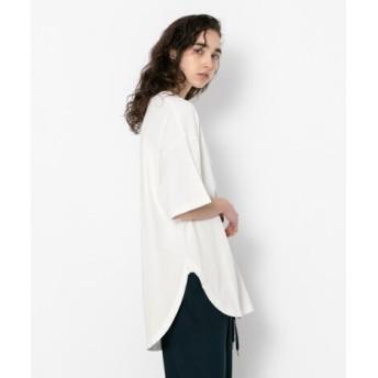 SENSE OF PLACE(センスオブプレイス) トップス Tシャツ・カットソー ラウンドヘムビッグTシャツ(半袖)
