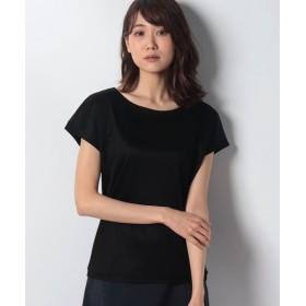 ニューヨーカー レーヨンシルク おとなTシャツ(スーツインナー対応) レディース ブラック L 【NEWYORKER】