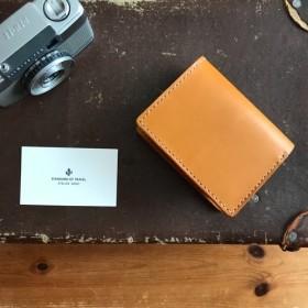 [限定1品SALE]カード収納多めの2つ折り財布【キャメル】