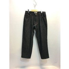 代官山) ウェルダー WELLDER 5ポケットテーパードパンツ One-Tack & Five-Pockets Tapered Trousers ブラック 3 定価2.3万