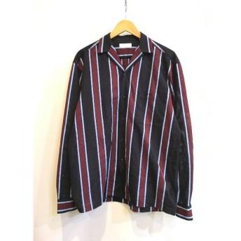 二子玉) トゥモローランド TOMORROWLAND 18SS ラッセルストライプ オープンカラーシャツ メンズ M 定価1.9万