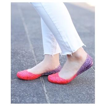 【大きいサイズレディース】【19夏新作】【24.5cm】グラデーションラメパンプス シューズ(靴) スニーカー