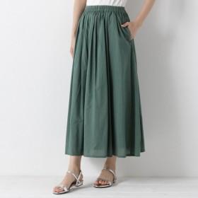 スカート レディース ロング インド綿のキャンブリックボリュームスカート 「グリーン」
