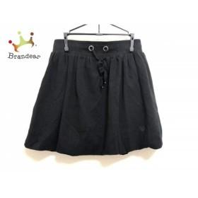 トゥービーシック TO BE CHIC ミニスカート レディース 美品 黒 裾ゴム入り/ハート   スペシャル特価 20190823