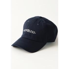 LOVELESS 【LOVELESS】MEN ポリクレストロゴ キャップ キャップ,ネイビー1
