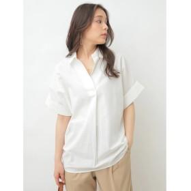 【オンワード】 earth music & ecology(アースミュージック&エコロジー) ・リネン混スキッパーBIGシャツ Off White F レディース 【送料無料】