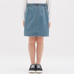 (GU)GIRLSデニムスカート BLUE 150