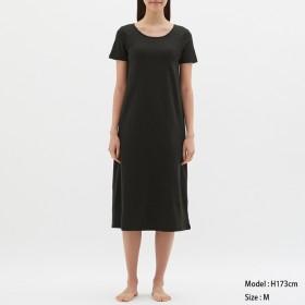 (GU)ブラフィールワンピース(半袖) BLACK M