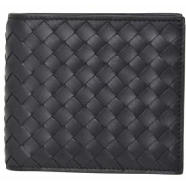9a1b2f31d96f ボッテガヴェネタ 二つ折り財布 小銭入れ付き コインケース付き ブラック 黒 ネロ メンズ 二