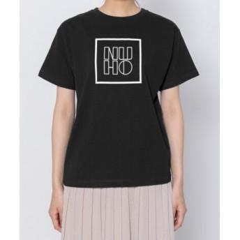 SENSE OF PLACE(センスオブプレイス) トップス Tシャツ・カットソー モノトーンボックスロゴTシャツ(半袖)