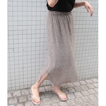 ロングスカート - ROPE' PICNIC ヨウリュウ風フラワープリントスカート