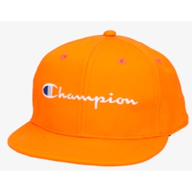 Champion ロゴキャップ キッズ オレンジ