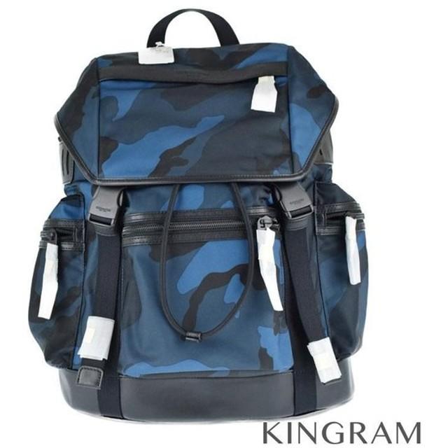 e286585541c8 コーチ COACH カモフラ メイサイ柄 E1661-F54783 ブルー×ブラック ナイロン バックパック・リュック. トップ ファッション バッグ  リュックサック
