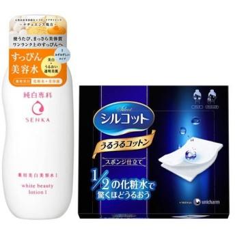 数量限定純白専科 すっぴん美容水I 200mL+シルコットうるうるスポンジ仕立て 1箱