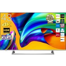ハイセンス 43型4K液晶テレビ 43E6500 シルバー