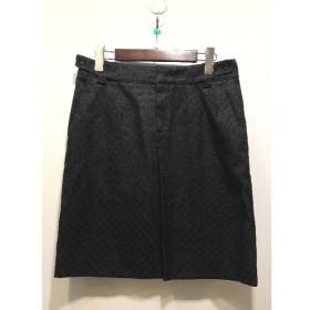 経堂) GUCCI グッチ ディアマンテ柄 スカート ブラック サイズ40 レディース