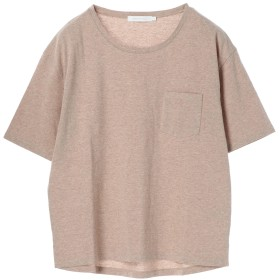【オンワード】 AMERICAN HOLIC(アメリカンホリック) ポケット付きクルーネックTシャツ Brown Mixture L レディース 【送料無料】