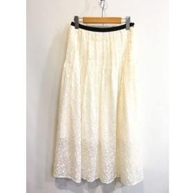 二子玉) マメ mame 18SS 未使用 フラワーロングスカート ボトムス ホワイト 白 花柄 レディース 1 S 定価5.5万