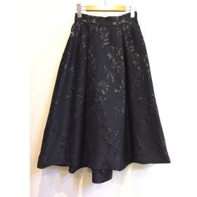 二子玉) ユナイテッドトウキョウ UNITED TOKYO 18SS フクレフラワースカート ブラック 花柄 レディース 1 未使用