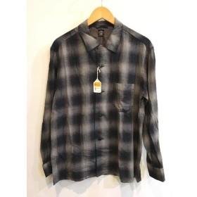 二子玉) タウンクラフト TOWNCRAFT 18SS 未使用 オンブルチェックシャツ トップス ブラック メンズ L 定価1.4万