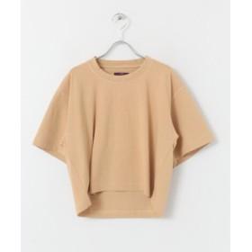 ITEMS(アイテムズ) トップス Tシャツ・カットソー ロゴプリントクルーネック Tシャツ