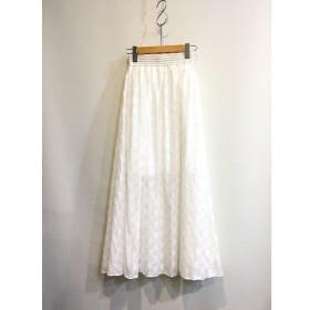 二子玉) シールームリン SeaRoomlynn ドットマキシスカート ロングスカート ホワイト 白 レディース Free