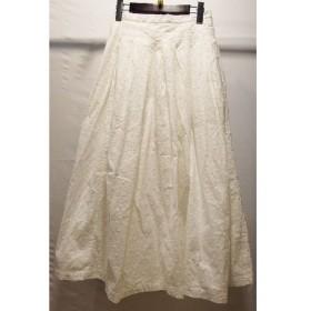 経堂)グランマママドーター コットン スカート ホワイト サイズ0