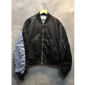 代官山) ブラックウィドウ BLACK WEIRDOS 17AW MA-1 SMALL ブラック メンズアウター 定価6.8万