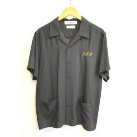 二子玉) ラディアル ブラックウィドウ RADIALL BLACK WEIRDOS レーヨンシャツ トップス 半袖 カーキ メンズ L
