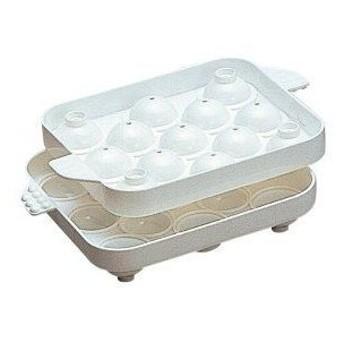 まんまるな球状の氷が簡単に作れる製氷皿!「まるまる氷 小」2個組【お取り寄せP】
