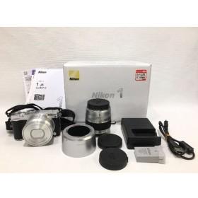 経堂) Nikon ニコン J5モデル ダブルズームキット デジタルカメラ レンズ J5 シルバー