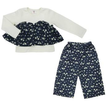 Tシャツ [キッズ]シンプルフリー セットアップ (Tシャツ+パンツ) ネイビー ベビー・キッズウェア キッズ(100~120cm) ワンピース (26)