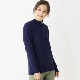 [マルイ]【セール】Lセーター(チビハイ釦使いプルオーバー)/ピンクアドベ(pink adobe)