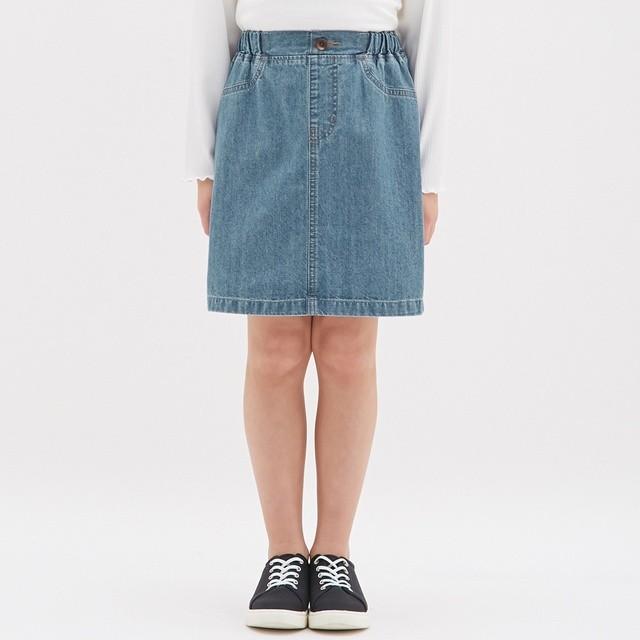 (GU)GIRLSデニムスカート BLUE 110
