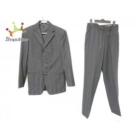 ヴェルサーチ VERSACE シングルスーツ サイズ46 XL メンズ 黒 ストライプ/COLLECTION   スペシャル特価 20190626