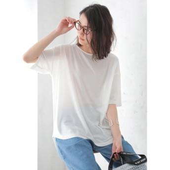 【オンワード】 koe(コエ) 梨地前後差チュニック White F レディース 【送料無料】